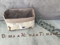 Utensilo Stoffbox Aufbewahrung Geschenk Rosen - Lamas braun