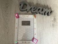 Bilderrahmen ♥ Einschulung ♥  personalisiert ♥  Unikat  ♥ Geschenk ♥ handmade  - pink