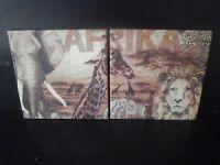 2er Set  Dekofliese * Keramikfliese * Untersetzer * Geschenk 15 x 15 cm - Afrika