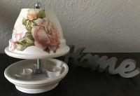 Teelichtofen  21 cm inkl 3 Teelichter - Rosen