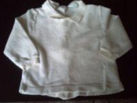 Größe 62/68 Weißes langarm Frottée Hemdchen mit Kragen