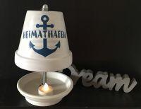 Teelichtofen -  Teelichtkamin inkl 3 Teelichtern Maritim - Heimathafen