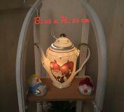 Beleuchtete Kaffeekanne Einzigartig Geschenk Vintage  Unikat - Wichtel im Herz