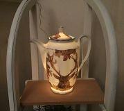 Beleuchtete Kaffeekanne Einzigartig Geschenk Vintage  Unikat - Hirsch