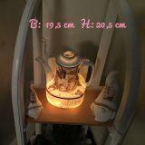 Beleuchtete Kaffeekanne Einzigartig Geschenk Vintage  Unikat - Katzen im Bild