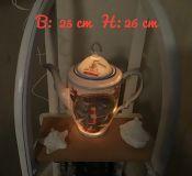 Beleuchtete Kaffeekanne Einzigartig Geschenk Vintage  Unikat - Maritim