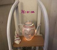Beleuchtete Kaffeekanne Einzigartig Geschenk Vintage  Unikat - Herz Home is ...