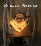 Beleuchtete Kaffeekanne Einzigartig Geschenk Vintage  Unikat - i mog di