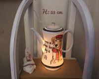 Beleuchtete Kaffeekanne Einzigartig Geschenk Vintage  Unikat - Hund Home is ...