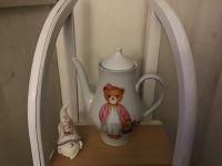 Beleuchtete Kaffeekanne Einzigartig Geschenk Vintage  Unikat - Teddy