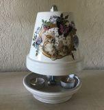 Teelichtofen Teelichtkamin  25 cm inkl 3 Teelichter - Katze im Bild