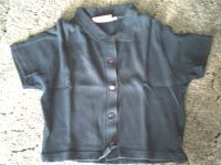 Größe 164 Kurzes blaues Poloshirt