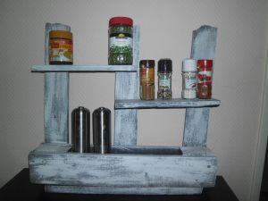 Shabby Chic Vintage Küchenregal Wandregal Gewürzregal Haken