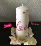 Kerzen * weiß * h: 170 mm - Unikat - Love